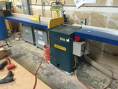 Whirwind 212 L Upcut saw & Tigerstop TS-10 Programmable Stop