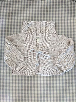 Misha and Puff Bolerito Sweater-Cloud Size 3-6m