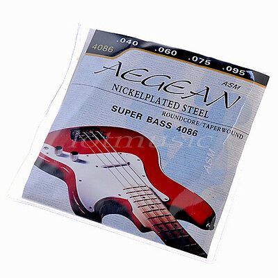 Set of 4 Strings for Super Electric Bass Guitar Parts Nickel Plated Steel