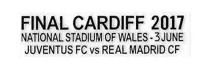 Champions League Final Cardiff 2017 Match Details Football Patch Real Madrid NEW