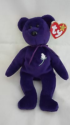 Rare TY Princess Diana Beanie baby Indonesia  PVC pellets all tags kept in box