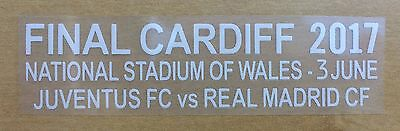 Champions League Final Cardiff 2017 Match Details Football Patch NEW Real Madrid