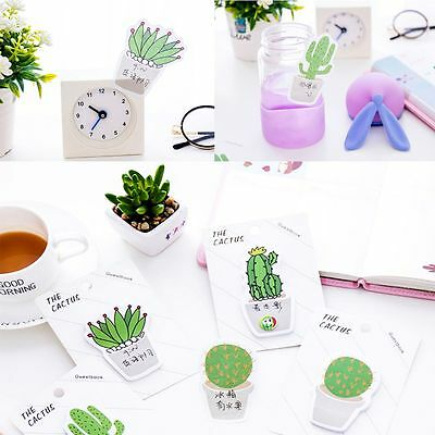 2pcs Random Sent Creative Cactus Shape Stickers Paster Memo Pad Sticky Notes