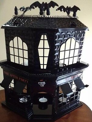 Yankee Candle Boney Bunch After Party Haunted House Halloween Tea Light Holder