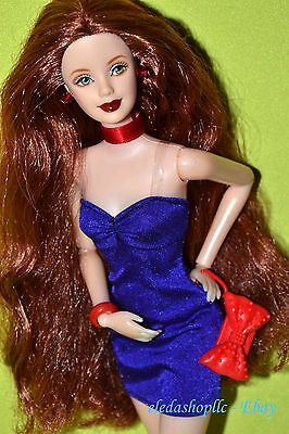 OOAK Hybrid Articulated Posable Pivotal Jointed Auburn Hair Barbie Doll