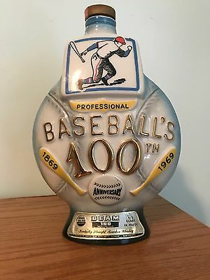 1869-1969 Vintage Jim Beam Professional Baseball's First 100 Years Decanter