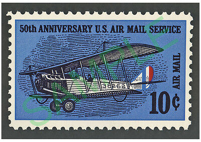 US Air Mail Service 50th. 10 cent stamp framed picture