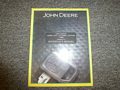 John Deere LX 288 279 266 277 & AWS Lawn Tractor Owner Operator Manual OMM146413