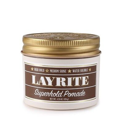 LAYRITE SUPER HOLD POMADE 4.25 OZ. FREE FAST SHIPPING in CANADA