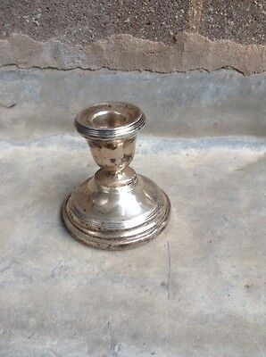British Hallmarked Solid Silver Candlestick, Birmingham 1926 For Repair
