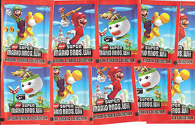20 Packets Packs of Super Mario Bros Wii Stickers Party Bag Filler