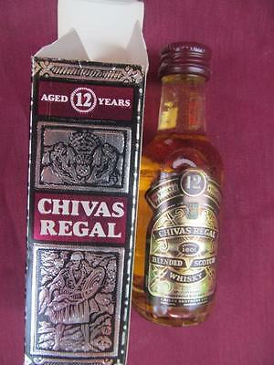 A Collectors Vintage Miniature Nip Shooter Bottle Sealed  Chivas Regal