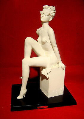 Emilio Casarotto A.d.l. Young Lady Figurine Signed Made In Italy