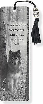 Wolf Beaded Bookmark Inspirational Quote Fun Cheap Gift Reading Books Book