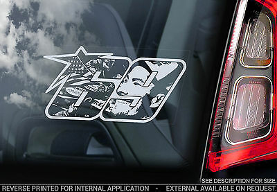 Nicky Hayden #69 - Car Window Sticker - Superbike MotoGP Number Decal Sign - V06