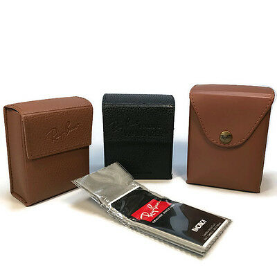 Ray Ban Folding Sunglasses CASE and Lens Cloth ONLY