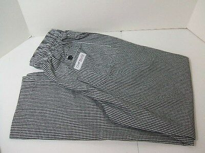 Five Pairs CHEF WORKS Baggy Chef Pants Checkered Size SMALL