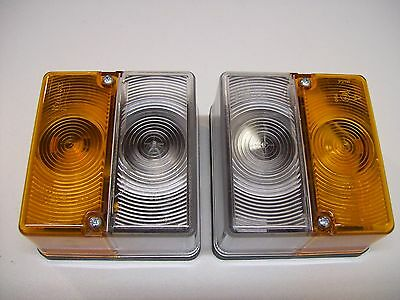 2 x Britax 9087 Front Combination Trailer Lights,Amber/White