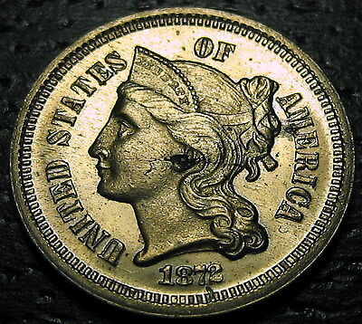 1872 PROOF 3 Cent Nickel Piece  --  MAKE US AN OFFER!  #O9879
