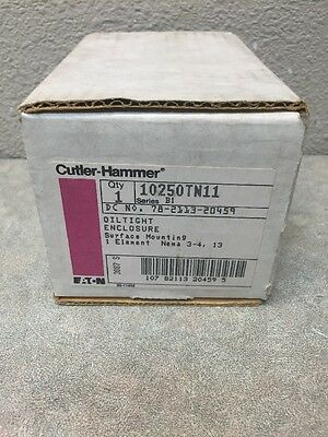 Cutler Hammer 10250Tn11 Oiltight Enclosure Surface Mount Nema 3-4/13 New
