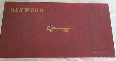 Vintage board game Parker Brothers Keyword like Scrabble red box deluxe ed 1953
