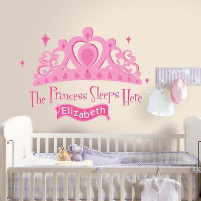 RoomMates RMK1787GM Princess Sleeps Here Peel and Stick Giant Wall Decal with Pe