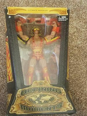 ultimate warrior wwe defining moments action figure figurine wrestling in box