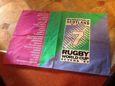 4 Brand New 1993 Rugby World Cup Sevens 7s 100% Cotton Tea Towels