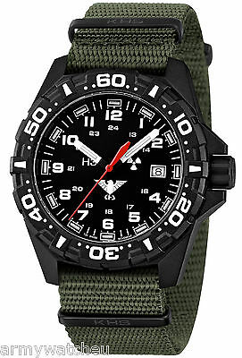 KHS Tactical Watches Police Watch Red Trigalights© Army Strap Olive KHS.RE.NO