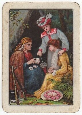Playing Cards Single Swap Antique Wide Gypsy Lady Fortune Telling Ladies Teller