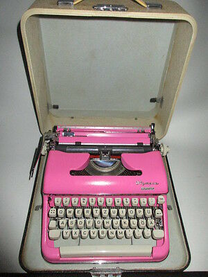 RARE VINAGE 50's 60`s OLYMPIA Colortip SM3 Typewriter in Pink FREE SHIPPING!