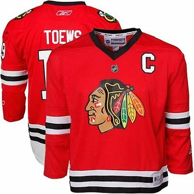 Reebok NHL Chicago Blackhawks Ice Hockey Replica Jersey - J Toews (Mens XL)
