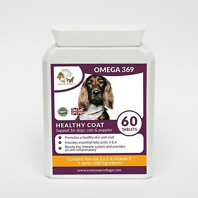 Omega 3,6 & 9 + Vitamin E High Strength Formulated for Dogs & Cats (60 Gel)