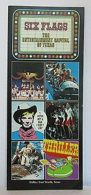 1973 SIX FLAGS OVER TEXAS Dallas Fort Worth TX Advertising Brochure Mint