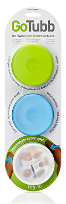 Humangear GoTubb Container 3-Pack Green, Clear, Blue