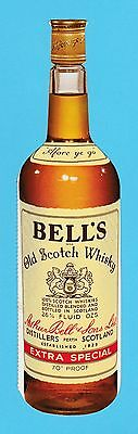 Advertising  -  Bells  -  Die  Cut  Bells  Scotch  Whisky  Advertising  Card