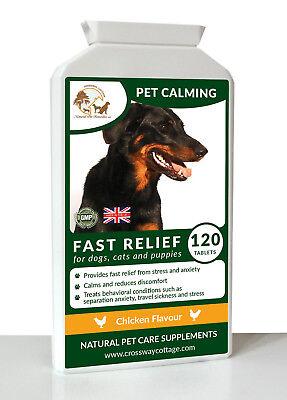 Natural Pet CalmingTreatment for Stress Anxiety & Hyperactivity in Dogs & Cats