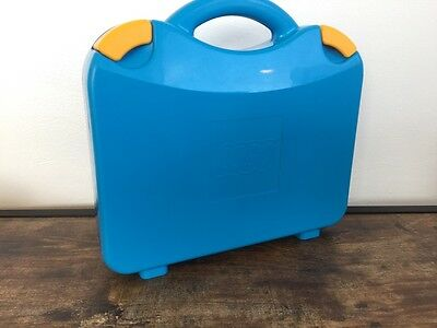 Lego Blue Carry Storage Case With Moveable Dividers