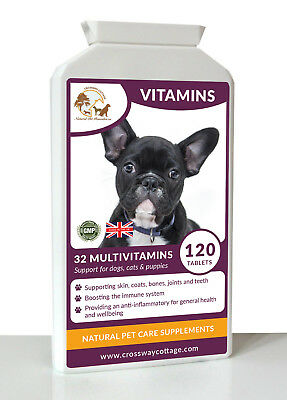 32 Multi Vitamin & Minerals for Dogs & Cats 120 Tablets (Improved Formula)