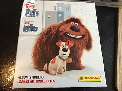 1 Box of The Secret Life Of Pets Stickers Panini 50 Packs Party Bag Filler