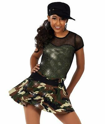 Dance Costume Large Child or Medium Adult Camoflauge Hip Hop Solo Competition