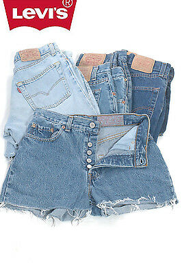 Levis 501 Denim Shorts Grade B Vintage High Waisted 2 4 6 8 10 12 14 16 18