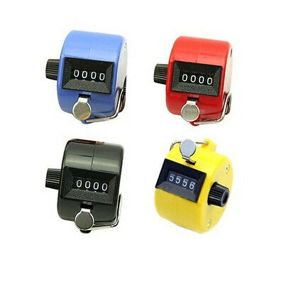 4 Digit Hand Held Tally Counter Golf Manual Number Counting Palm Clicker Counter