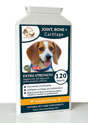 Arthritic Support For Joint, Bone & Cartilage In Old Dogs 120 Tablets 1000mg