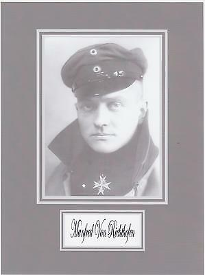 THE RED BARON   WW1 ACE  8 x 10 REPRINT PHOTO DISPLAY ON GLOSSY PHOTO PAPER