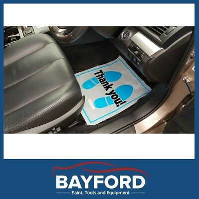 Workshop Car Floor Mats Protectors With Dispenser Box Plastic 200 Per Roll