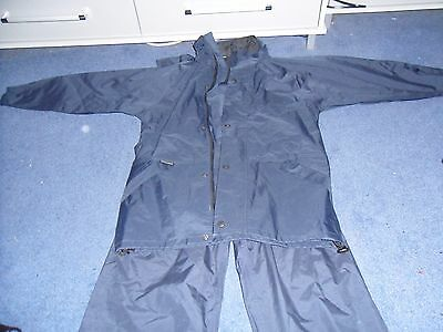 Peter Storm Blue Waterproof jacket and trousers Age 11/12