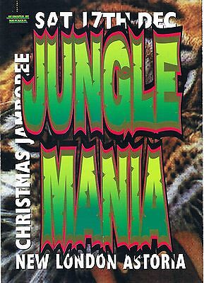 $ JUNGLE MANIA Rave Flyer Flyers A5 17/12/94 The Astoria London