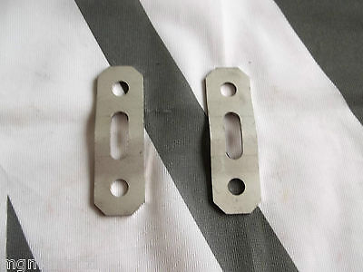 MGTF MG TF Pair Exhaust  Stainless Hanger Plates Brand New mgmanialtd.com