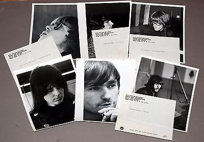 1960's JEFFERSON AIRPLANE Slick Kantner 6pc Vintage 8x10 RCA Press Photo Lot